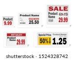 electronic shelf label set ... | Shutterstock .eps vector #1524328742
