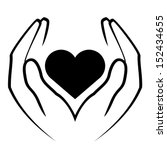 hands holding heart | Shutterstock . vector #152434655