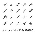 Construction Tools Flat Glyph...
