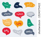 colorful creative volume speech ... | Shutterstock .eps vector #1524375422