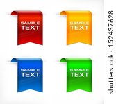 color labels stickers with text ... | Shutterstock .eps vector #152437628