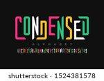 Condensed Style Font  Alphabet...