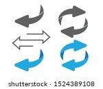 flip over or turn arrow.... | Shutterstock .eps vector #1524389108