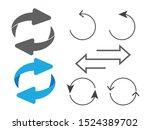 rotating  circular  cyclic... | Shutterstock .eps vector #1524389702