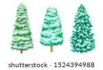 Christmas Snow Pine Tree Set....