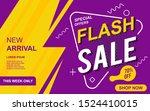 flash sale banner template...   Shutterstock .eps vector #1524410015