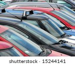 compressed view of parked cars... | Shutterstock . vector #15244141