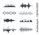 sound waves. frequency audio...   Shutterstock .eps vector #1524414905
