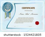 certificate or diploma vintage... | Shutterstock .eps vector #1524421835