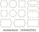 vintage frames. vector art.... | Shutterstock .eps vector #1524422522