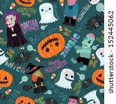 happy halloween seamless... | Shutterstock .eps vector #152445062