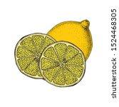 Lemon. Citrus Fruits. Vintage...