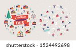 christmas market and holiday... | Shutterstock .eps vector #1524492698