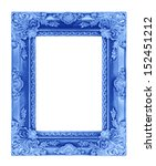 The Antique Blue Frame On The...
