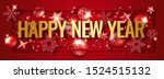 new year horizontal banner with ... | Shutterstock .eps vector #1524515132