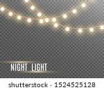 christmas lights isolated on...   Shutterstock .eps vector #1524525128