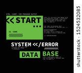 computer system error...   Shutterstock .eps vector #1524532085