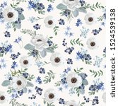 seamless vintage floral pattern ... | Shutterstock .eps vector #1524539138