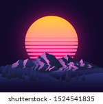 Abstract Image Of A Sunset  Th...