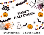 big halloween banner for... | Shutterstock . vector #1524542255