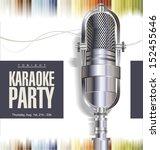 karaoke party background | Shutterstock .eps vector #152455646