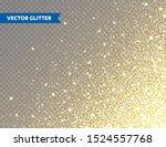 sparkling golden glitter on... | Shutterstock .eps vector #1524557768
