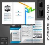 vector white brochure template... | Shutterstock .eps vector #152456486