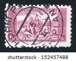 czechoslovakia   circa 1934 ... | Shutterstock . vector #152457488