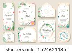 save the date greenery plants.... | Shutterstock .eps vector #1524621185