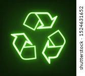 recycle logo concept. green... | Shutterstock .eps vector #1524631652