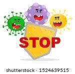 say stop to viruses  bacteria ...   Shutterstock .eps vector #1524639515