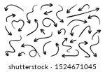 arrows line icons set. curly ...   Shutterstock .eps vector #1524671045