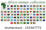 africa stamps alphabetic... | Shutterstock . vector #152467772