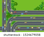 road top view with highways...   Shutterstock .eps vector #1524679058
