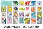 preschool alphabet. educational ... | Shutterstock .eps vector #1524686585