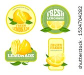 lemonade badges. lemon juice or ... | Shutterstock . vector #1524704282