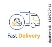 truck delivery  transportation...   Shutterstock .eps vector #1524710462