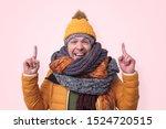 handsome caucasian funny man in ... | Shutterstock . vector #1524720515
