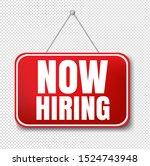 now hiring sign transparent...   Shutterstock .eps vector #1524743948