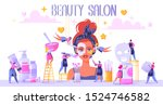 oncept of beauty salon and...   Shutterstock .eps vector #1524746582