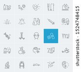 healthcare icons set with... | Shutterstock .eps vector #1524748415