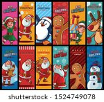 set of graphics for christmas... | Shutterstock .eps vector #1524749078