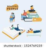 cartoon vector illustrations of ... | Shutterstock .eps vector #1524769235