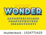 trendy 3d comical font design ... | Shutterstock .eps vector #1524771425