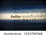 Folio Word In A Dictionary....