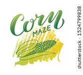 vector illustration of corn... | Shutterstock .eps vector #1524799838