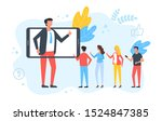 influencer. social media... | Shutterstock .eps vector #1524847385