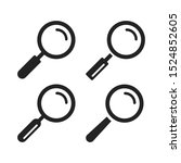 magnifying glass icons set....