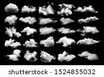 Clouds on black background. sky background - stock photo