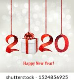 2020 new years background with...   Shutterstock .eps vector #1524856925